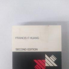 Libros: ENGINEERING THERMODYNAMICS: FUNDAMENTALS AND APPLICATIONS - FRANCIS F. HUANG. Lote 129237938