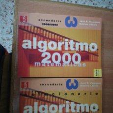 Libros: MATEMÁTICAS ALGORITMO 2000 Y SOLUCIONARIO. Lote 134077918