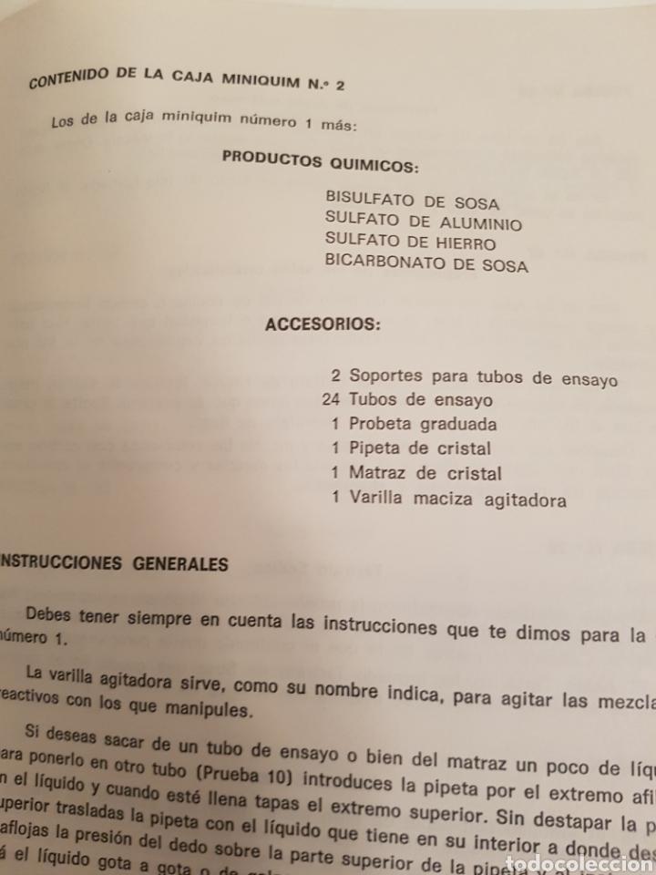 Libros: Libro Miniquim contenido de la caja y pruebas del numero 1 - 2 y 3 del año 1970 - Foto 3 - 143842276