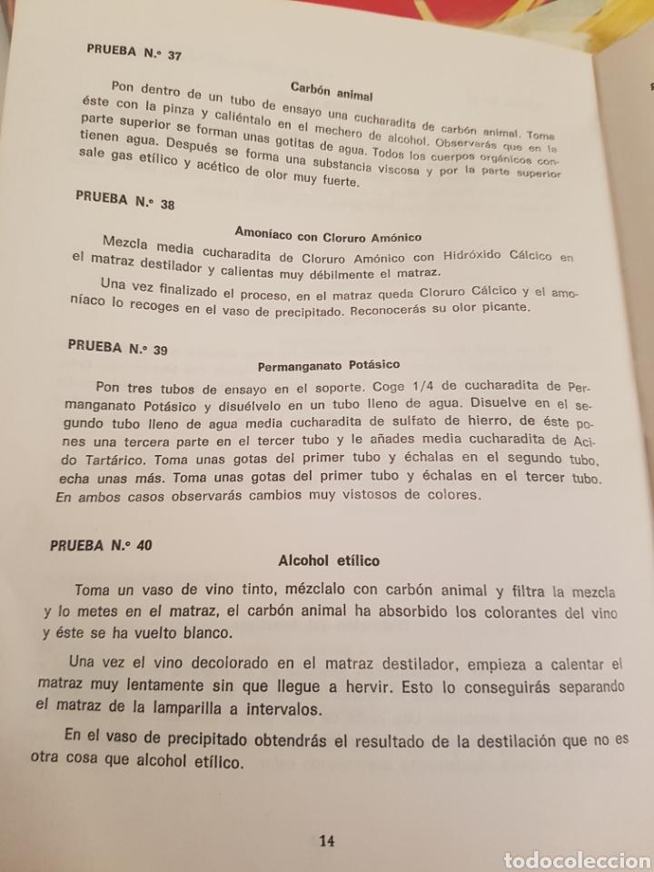 Libros: Libro Miniquim contenido de la caja y pruebas del numero 1 - 2 y 3 del año 1970 - Foto 5 - 143842276