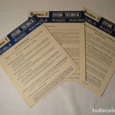 Libros: RESISTENCIA 1;RESISTENCIA 2 Y RESISTENCIA 3. RADIO MAYMÓ. AÑO 1969. NUEVAS.. Lote 146410478