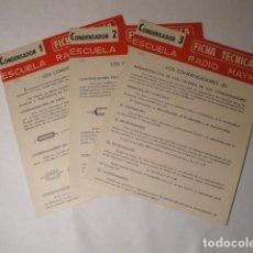 Libros: CONDENSADOR 1, CONDENSADOR 2 Y CONDENSADOR 3. RADIO MAYMÓ. AÑO 1969.. Lote 146411850