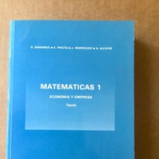 """Libros: MATEMATICAS 1. ECONOMÍA Y EMPRESA. TEORÍA. """"SAMAMED"""" RAMON ARECES. NUEVO. Lote 151086306"""