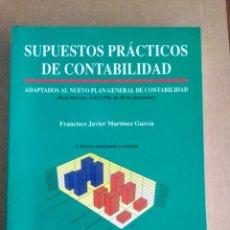 Libros: SUPUESTOS PRÁCTICOS DE CONTABILIDAD. J. MARTINEZ. JÚCAR.. Lote 151090246