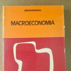 """Libros: MACROECONOMÍA. """"BROOMAN"""" AGUILAR. NUEVO. Lote 151378026"""