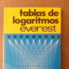 Libros: TABLAS DE LOGARITMOS. EVEREST.. Lote 151385270