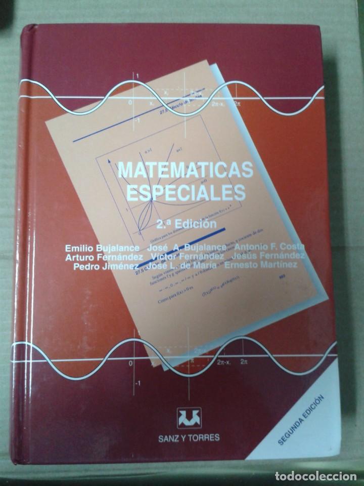 MATEMATICAS ESPECIALES (2ª ED.) EMILIO BUJALANCE. COMO NUEVO (Libros Nuevos - Ciencias, Manuales y Oficios - Física, Química y Matemáticas)