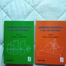 Libros: LOTE GEOMETRÍA DESCRIPTIVA I Y II. Lote 161884053
