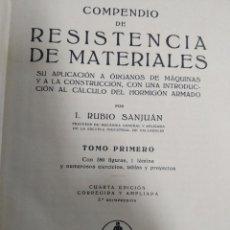 Livres: RESISTENCIA DE MATERIALES. Lote 166569550