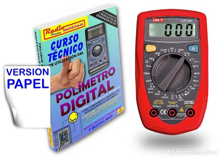 CURSO TECNICO 1 TOMO 210 PAGS + POLIMETRO MULTIMETRO 3 1/2 DIGITOS UNI-T UT-33D (Libros Nuevos - Ciencias, Manuales y Oficios - Física, Química y Matemáticas)