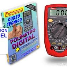 Libros: CURSO TECNICO 1 TOMO 210 PAGS + POLIMETRO MULTIMETRO 3 1/2 DIGITOS UNI-T UT-33D. Lote 171024417