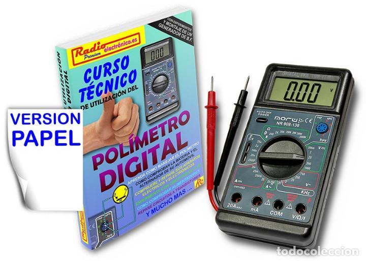 CURSO TECNICO 1 TOMO 210 PAGS + POLIMETRO MULTIMETRO CON CAPACIMETRO NORU NR908-136 (Libros Nuevos - Ciencias, Manuales y Oficios - Física, Química y Matemáticas)