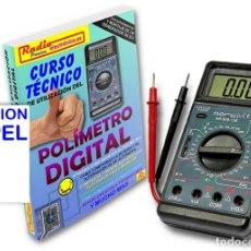 Libros: CURSO TECNICO 1 TOMO 210 PAGS + POLIMETRO MULTIMETRO CON CAPACIMETRO NORU NR908-136. Lote 171025389