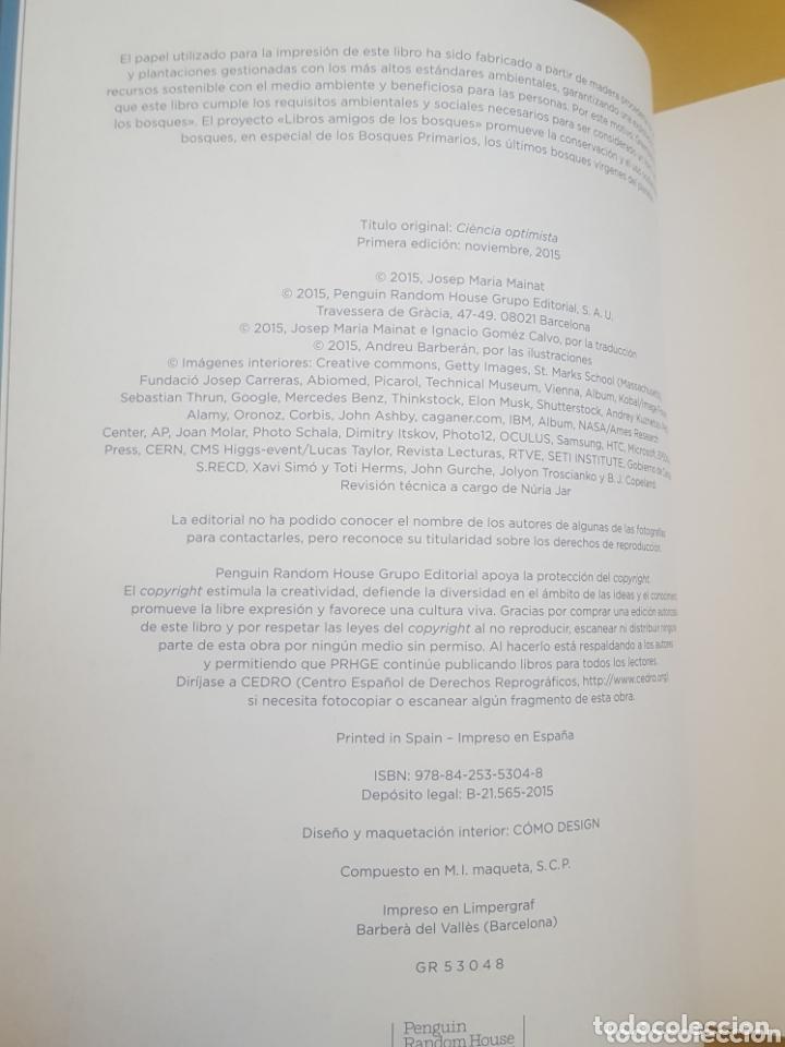 Libros: CIENCIA OPTIMISTA - JOSEP MARIA MAINAT - Foto 2 - 172903830