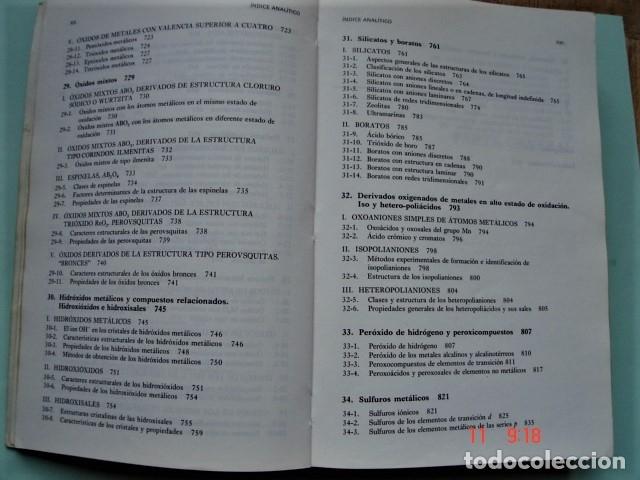 Libros: LIBRO QUÍMICA INORGÁNICA DE ENRIQUE GUTIÉRREZ RÍOS. EDITORIAL REVERTÉ. AÑO 1991. - Foto 6 - 176162144