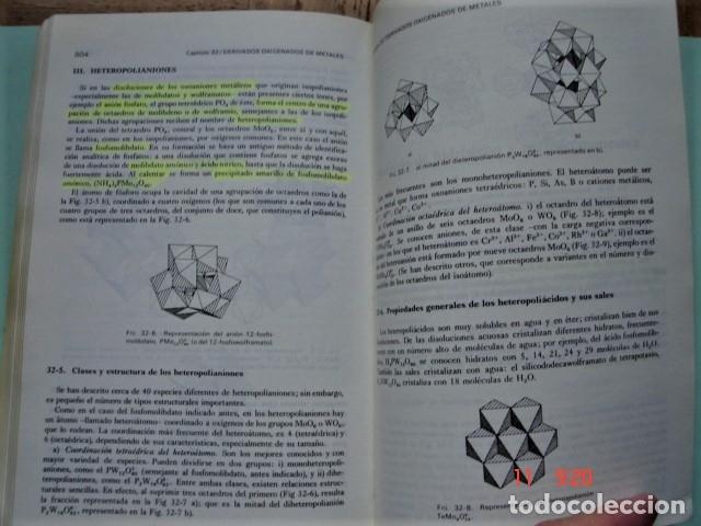 Libros: LIBRO QUÍMICA INORGÁNICA DE ENRIQUE GUTIÉRREZ RÍOS. EDITORIAL REVERTÉ. AÑO 1991. - Foto 8 - 176162144