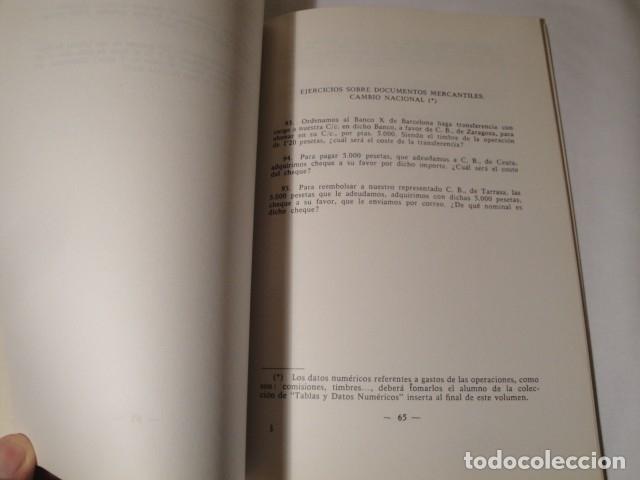Libros: Ejercicios de Matemáticas Comerciales. Año 1969. Autor: José López Urquía. Nuevo. - Foto 5 - 176571653