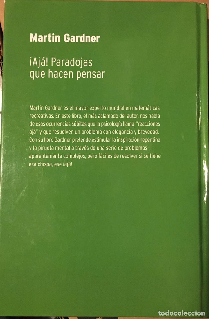 Libros: Martin Gardner - ¡Ajá! Paradojas que hacen pensar - Foto 2 - 184578440