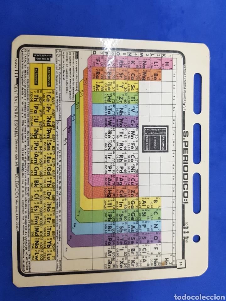 FICHA BZB N°14 , SISTEMA PERIODICO, AÑOS 1980 (Libros Nuevos - Ciencias, Manuales y Oficios - Física, Química y Matemáticas)
