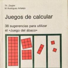 Libros: JUEGOS DE CALCULAR. TH. ZIEGLER. SCHROEDEL.. Lote 193230876