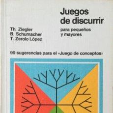 Libros: JUEGOS DE DISCURRIR PARA PEQUEÑOS Y MAYORES. DIDASCALIA. NUEVO. Lote 193251665