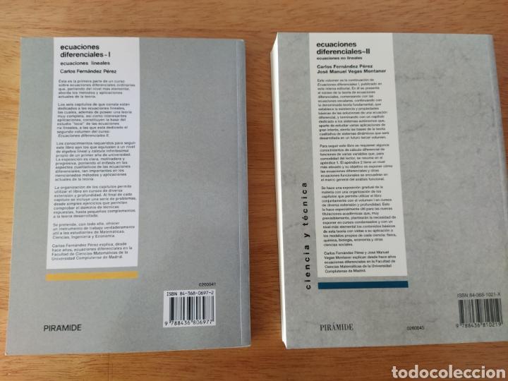 Libros: Carlos Fernández Pérez: Ecuaciones diferenciales I y II (2 Vols.) - Foto 2 - 193323971