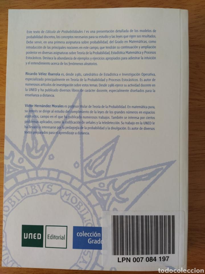 Libros: UNED-Vélez Ibarrola: Cálculo de probabilidades I - Foto 2 - 193324872