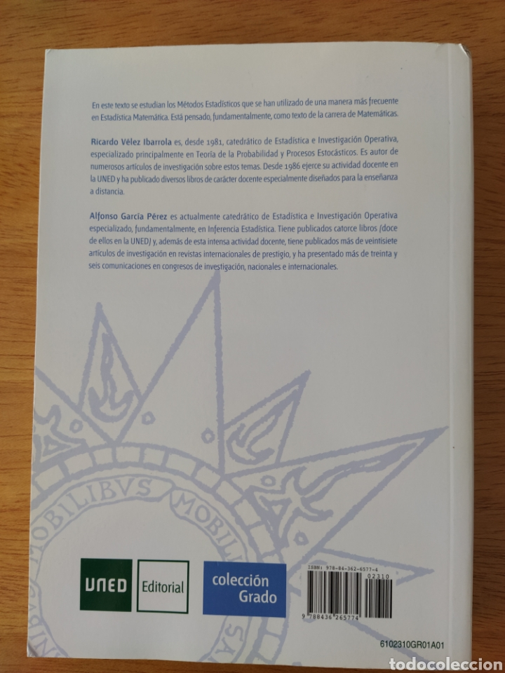 Libros: UNED-Vélez Ibarrola: Principios de Inferencia Estadística - Foto 2 - 193327105