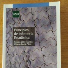 Libros: VÉLEZ IBARROLA: PRINCIPIOS DE INFERENCIA ESTADÍSTICA. Lote 193327105