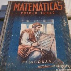 Libros: LIBRO DE MATEMÁTICAS. Lote 194972407