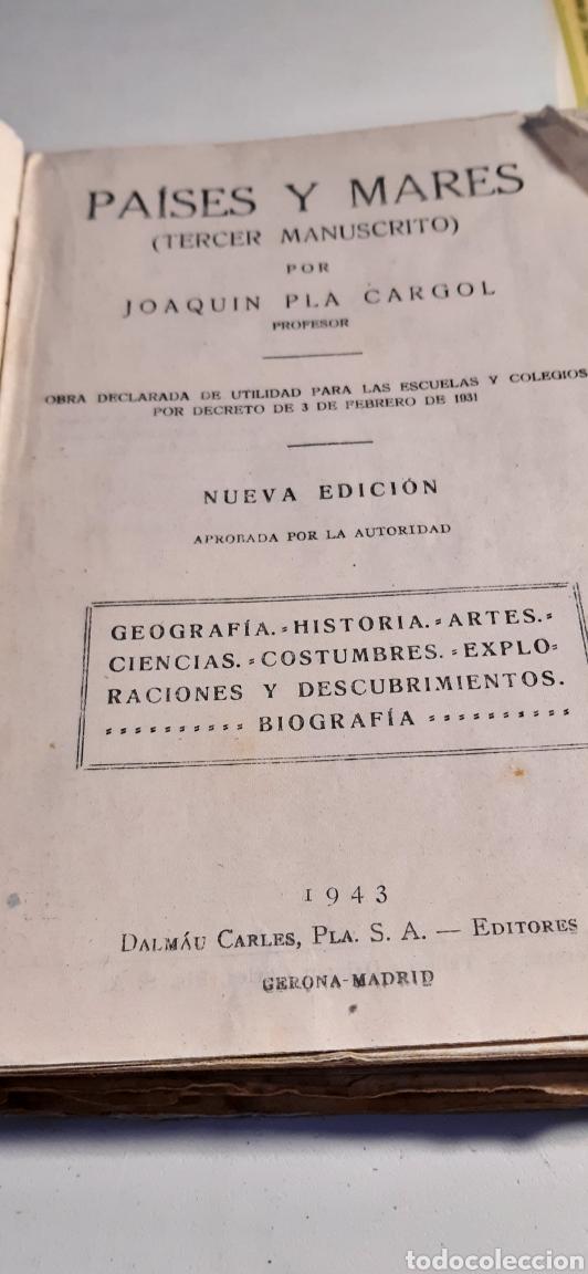 Libros: Libro Paises y Mares manuscrito - Foto 3 - 194972628