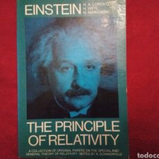 Libros: THE PRINCIPLE OF RELATIVITY. ALBERT EINSTEIN. EN INGLÉS.. Lote 197684308