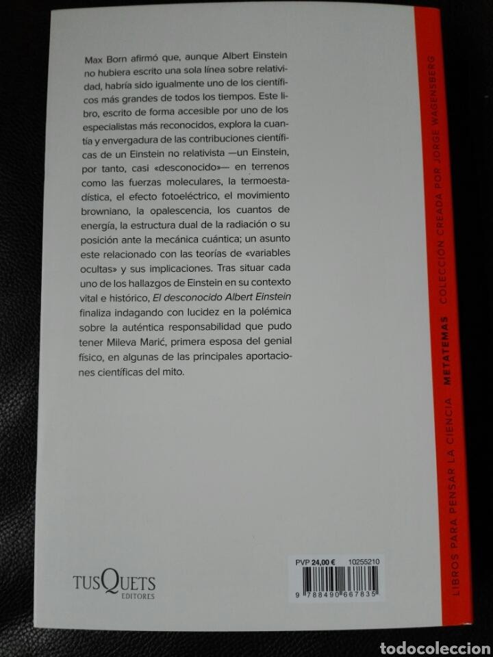 Libros: El desconocido Albert Einstein Luis Navarro. Libro nuevo. 1 edición. 2020 - Foto 2 - 198122433