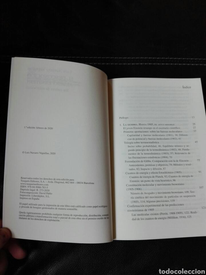 Libros: El desconocido Albert Einstein Luis Navarro. Libro nuevo. 1 edición. 2020 - Foto 4 - 198122433