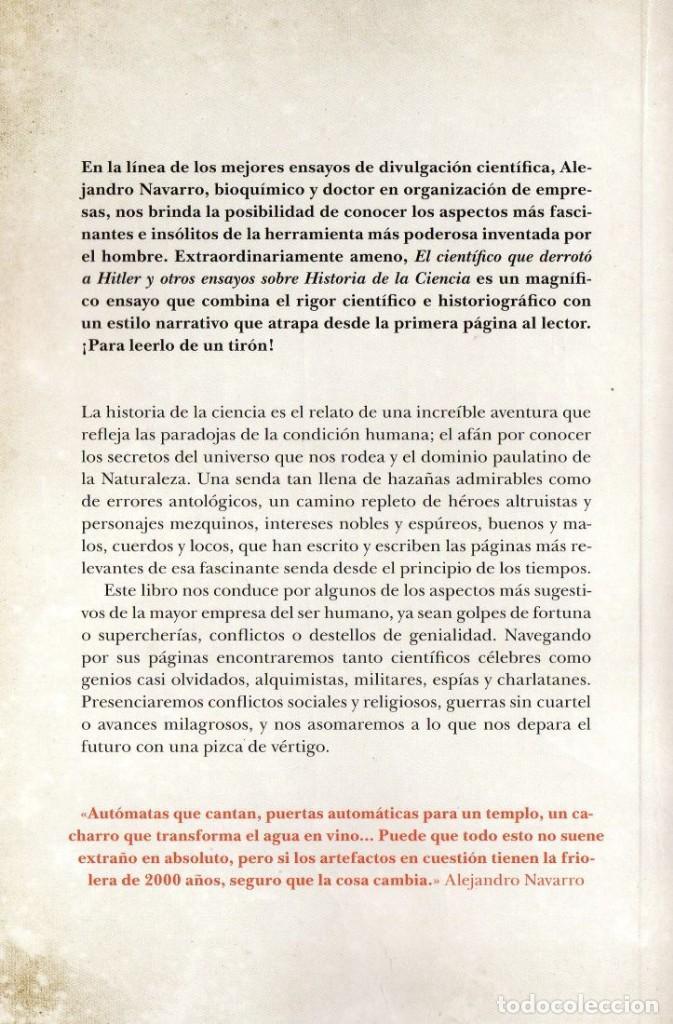 Libros: EL CIENTIFICO QUE DERROTO A HITLER Y OTROS ENSAYOS SOBRE LA HISTORIA... - GUADALMAZAN, 2019 - Foto 2 - 227239730