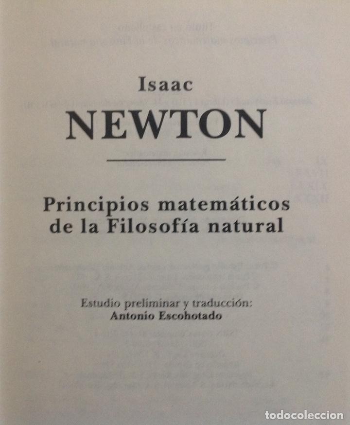 Libros: Principios matemáticos. Principia Mathematica. Isaac Newton. Ed. Altaya. 1993. Nuevo - Foto 2 - 202876770
