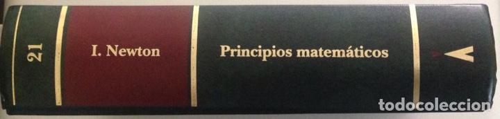 Libros: Principios matemáticos. Principia Mathematica. Isaac Newton. Ed. Altaya. 1993. Nuevo - Foto 4 - 202876770