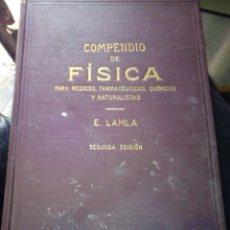 Libros: COMPENDIO DE FISICA E.LAMLA. Lote 203429246