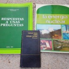 Libros: FOLLETOS LIBROS, LA ENERGIA NUCLEAR EN ESPAÑA 1981. Lote 208182956