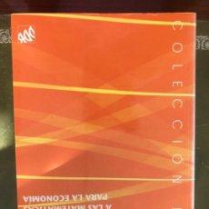 Libros: INTRODUCCIÓN A LAS MATEMÁTICAS PARA LA ECONOMÍA FRANCISCO J. MARTÍNEZ ESTUDILLO EDITORIAL. DDB. Lote 219720720
