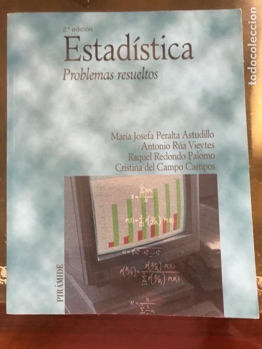 ESTADÍSTICA. PROBLEMAS RESUELTOS. VARIOS AUTORES. ED PIRÁMIDE (Libros Nuevos - Ciencias, Manuales y Oficios - Física, Química y Matemáticas)
