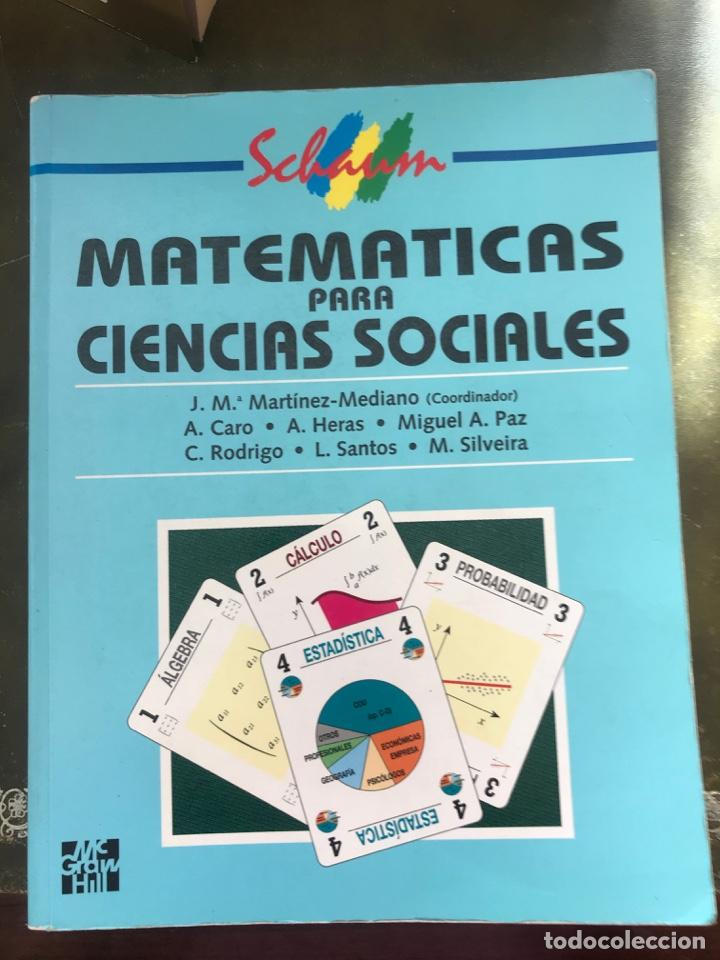 MATEMATICAS PARA CIENCIAS SOCIALES . VARIOS AUTORES. ED MC GRAW HILL (Libros Nuevos - Ciencias, Manuales y Oficios - Física, Química y Matemáticas)