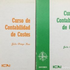 Libros: CURSO DE CONTABILIDAD DE COSTES. (2 VOLÚMENES) ICAI. NUEVOS.. Lote 222159446