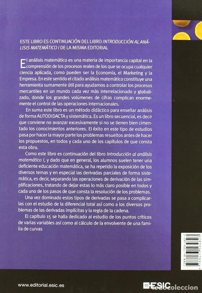 Libros: INTRODUCCIÓN AL ANÁLISIS MATEMÁTICO II. José Manuel Casteleiro Villalba. ESIC. Libros profesionales - Foto 2 - 235388795