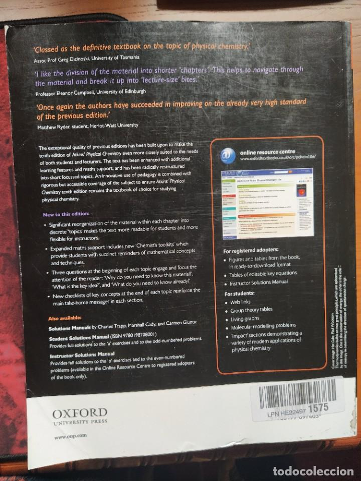 Libros: Atkins´ Physical Chemistry, 10th Edition. Oxford University Press. - Foto 2 - 236935360