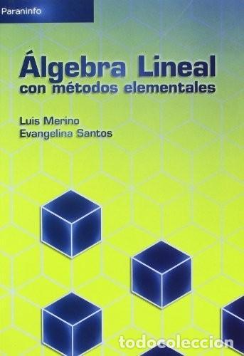 ÁLGEBRA LINEAL CON MÉTODOS ELEMENTALES. LUIS MERINO Y EVANGELINA SANTOS. PARANINFO 2010 (Libros Nuevos - Ciencias, Manuales y Oficios - Física, Química y Matemáticas)