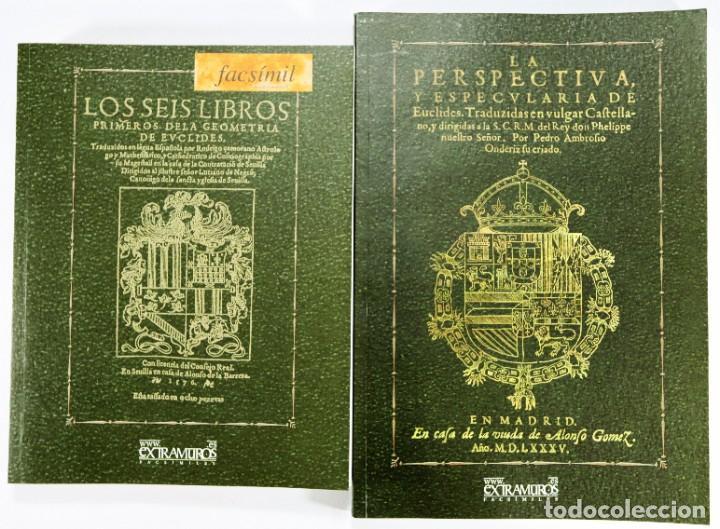 EUCLIDES. 2 EDICIONES FACSÍMILES DE OBRAS DE 1576 Y 1585 GEOMETRÍA MATEMÁTICAS ALEJANDRÍA PTOLOMEO I (Libros Nuevos - Ciencias, Manuales y Oficios - Física, Química y Matemáticas)