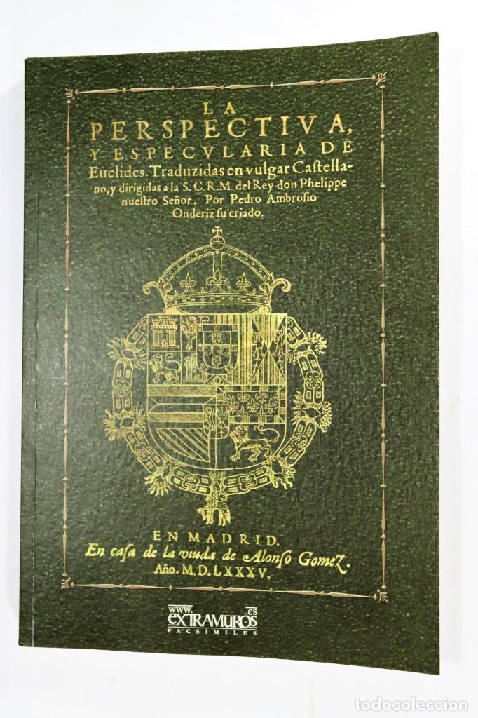 Libros: Euclides. 2 ediciones facsímiles de obras de 1576 y 1585 Geometría Matemáticas Alejandría Ptolomeo I - Foto 2 - 277582653