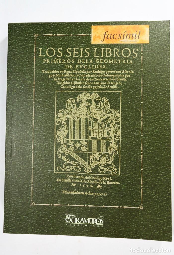 Libros: Euclides. 2 ediciones facsímiles de obras de 1576 y 1585 Geometría Matemáticas Alejandría Ptolomeo I - Foto 3 - 277582653