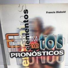 Libros: ELEMENTOS DE PRONOSTICOS. DIEBOLD FRANCIS. Lote 246458435